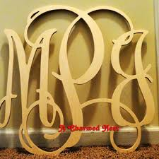 Monogram Letters Home Decor Shop Monogram Wooden Letters For Wall On Wanelo