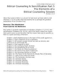 Writing Counselling Session Notes Bc D 8 Elements Of A Biblical Counseling Session