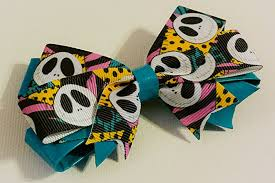 skellington ribbon skellington duct and ribbon hair bow handmade