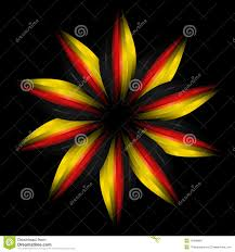Germany Flag Colors Abstract Flower In German Flag Colours Stock Illustration Image
