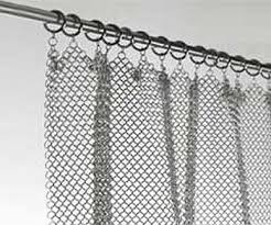 Chain Mail Curtain Amazing Chainmail Curtain Stainless Steel Fireplace Screen