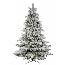 black flocked christmas tree christmas lights decoration