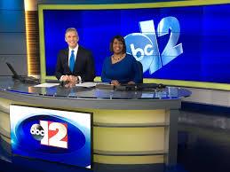 tv studio desk flint abc debuts new set newscaststudio
