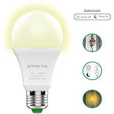 motion sensor light bulb 5w smart bulb radar dusk to