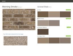 morning smoke brown brick general shale behr ppg paints
