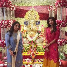 Home Ganpati Decoration What A Beautiful Ganesh Creation At My Friend Poojawadhawan S