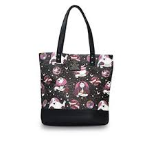 loungefly x nightmare before flash print duffle bag