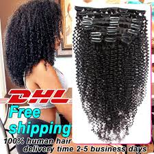 Yaki Clip In Human Hair Extensions by Clip In Bangs Human Hair African American Indian Remy Hair
