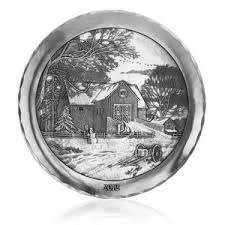 personalized pewter plate christmas entertaining accessories wendell august