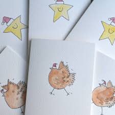 pack of six and chicken cards by shelbourne