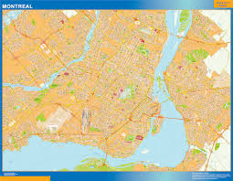 Map Of Montreal Our Montreal Map Wall Maps Mapmakers Offers Poster Laminated Or