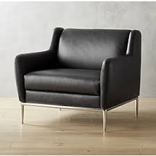 Black Leather Accent Chair Modern Accent Chairs And Armchairs Cb2