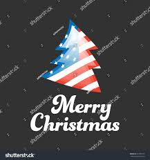 merry banner usa flag on stock vector 612985172