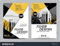 yellow flat modern brochure layout design stock vector 478344577
