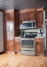 Rustic Alder Kitchen Cabinets Basement Bar Archives Franklin Builders