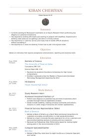 sample resume for cashier associate professional equity research associate resume recentresumes com