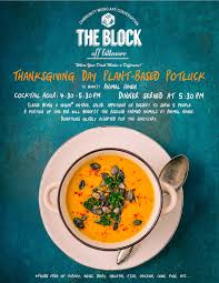 vegan thanksgiving potluck benefiting animal the block