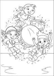 jake and the neverland pirates christmas coloring pages horizontal