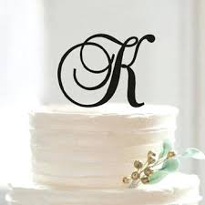 k cake topper wedding cake topper letters custom k letter initial name for