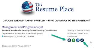 Usa Jobs Federal Resume by Usajobs