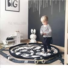 Car Play Rugs Soft Cotton Baby Crawling Rug Fun Adventure Toy Highway Carpet Car