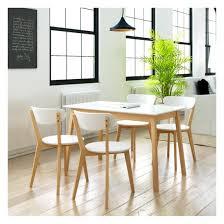 ensemble table chaises ensemble table rectangulaire et chaises 5 pièces bouleau blanc