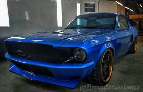 1967 blue mustang seattle built 1967 ford mustang fastback represents valspar and