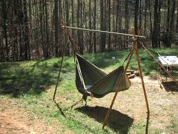 backyard u0026 patio gorgeous fresh green homemade hammock stand at