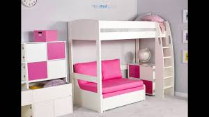 Double Sofa Bed Mattress by Stompa Unos High Sleeper Frame With Double Sofa Bed Only Youtube