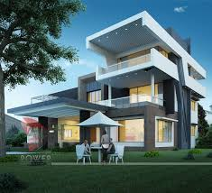 all architectural designing 3d house front elevation 49216 modern