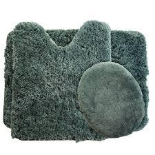 Grey Bathroom Rug by Lavish Home Rust 19 5 In X 24 In Super Plush Non Slip 3 Piece
