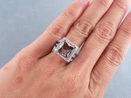 Chocolate Diamond Wedding Rings by Ctw Princess Cut Diamond Engagement Ring Natural Chocolate Si1