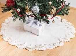 white tree skirt rsh12 winter white leaves tree skirt theredsari