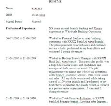 sample resume format for banking sector accountant resume example