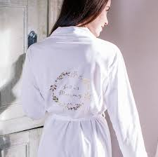 dressing gown personalised botanical mummy dressing gown by sparks and daughters