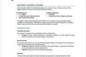 Federal Resume Templates Federal Resume Writers Cvlook03 Billybullock Us