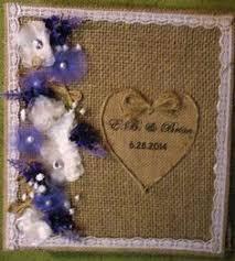 8 X 10 Photo Album Large Burlap And Lace Photo Album 8 X 10 Photos Wedding Album
