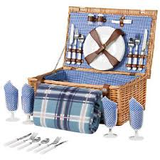 picnic basket set best choice products 4 person wicker picnic basket set ebay