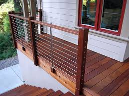 Wire Banister Wire Railings For Decks U2014 Railing Stairs And Kitchen Design How
