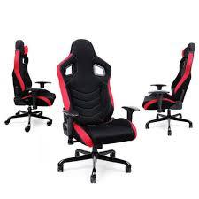 coussin chaise de bureau fauteuil de bureau sport à hauteur réglable tissu noir avec
