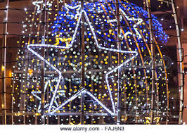 star shaped christmas light decoartion with beautiful bokeh in the