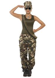 spirit halloween human resources halloween costumes female khaki camo costume jpg 1750 2500 to