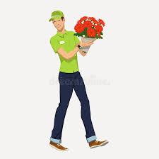 free flower delivery flower delivery stock vector image 56895608