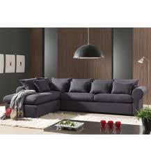 canapé d angle en tissu gris foncé avec méridienne gauche