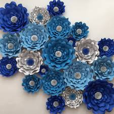 wedding backdrop blue frozen party large paper flower backdrop wedding arch photo