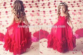 wholesale kids long vintage dress maxi dress flower