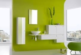 bathroom color schemes for small interior green wall theme connected by white wooden bathroom