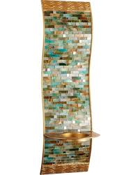 Mosaic Wall Sconce Bargains On Mosaic Wave Pillar Candle Holder Wall Sconce