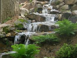 disappearing pondless waterfall landscape ideas charlotte north