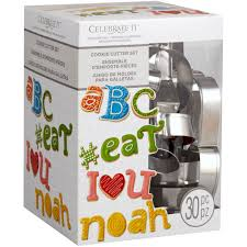 celebrate it cookie cutters shop for the alphabet cookie cutter set by celebrate it at